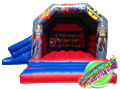Superheroes Castle & Slide Combo Hire